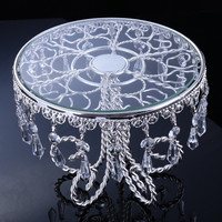 wholesale 3039(19cm*22cm)crystal chain flower cake stand/fruit plate,Wedding supplies,HOME Decoration