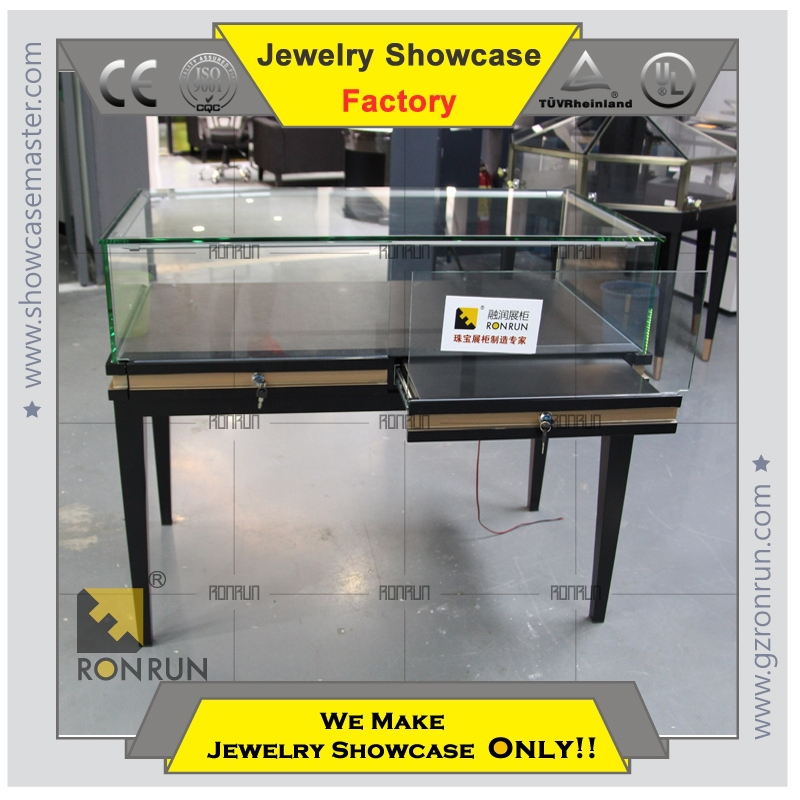 2017 hot sale top grade metal jewelry display showcase store counter