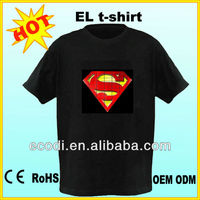 HOT ! HOT ! Flashing! el t shirts/el t-shirt technology