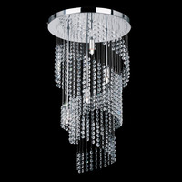 K9 crystal glass led ceiling light for decorative glass drop