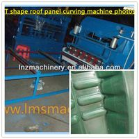 Roof system-T shape corrugated sheet Roof panel Curving Crimping bending rollform machine