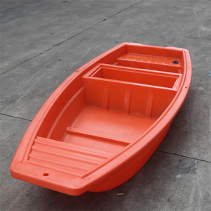 Rotomolded durable plastic rowing boat small fishing boat with lower price