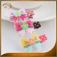 New products fabric kids hair accessories hot selling fashion cute BB hair jewellery bag