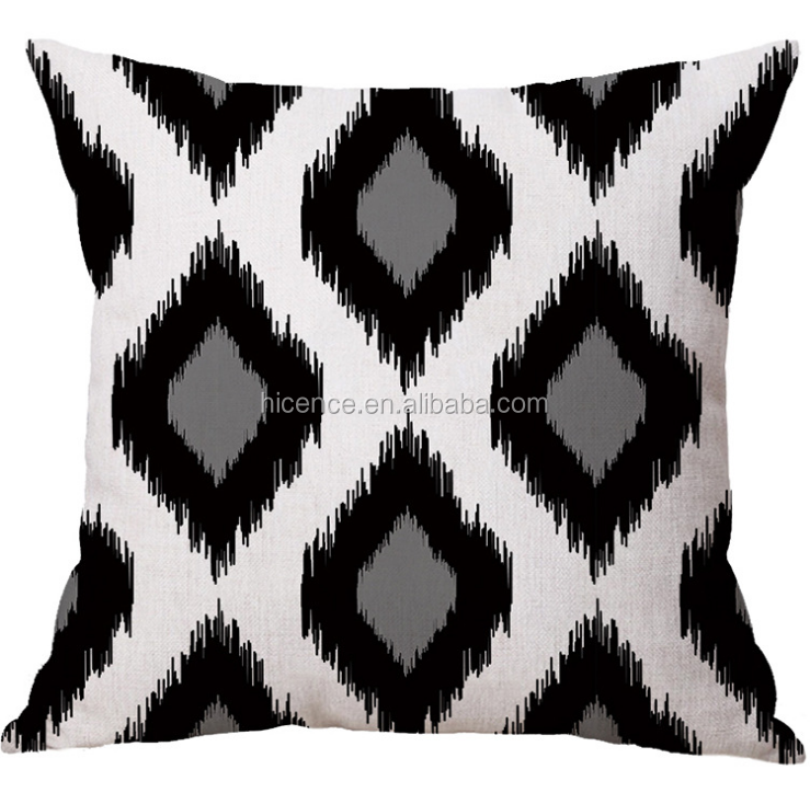 New Black and White Geometric 45*45cm Pillow Cover