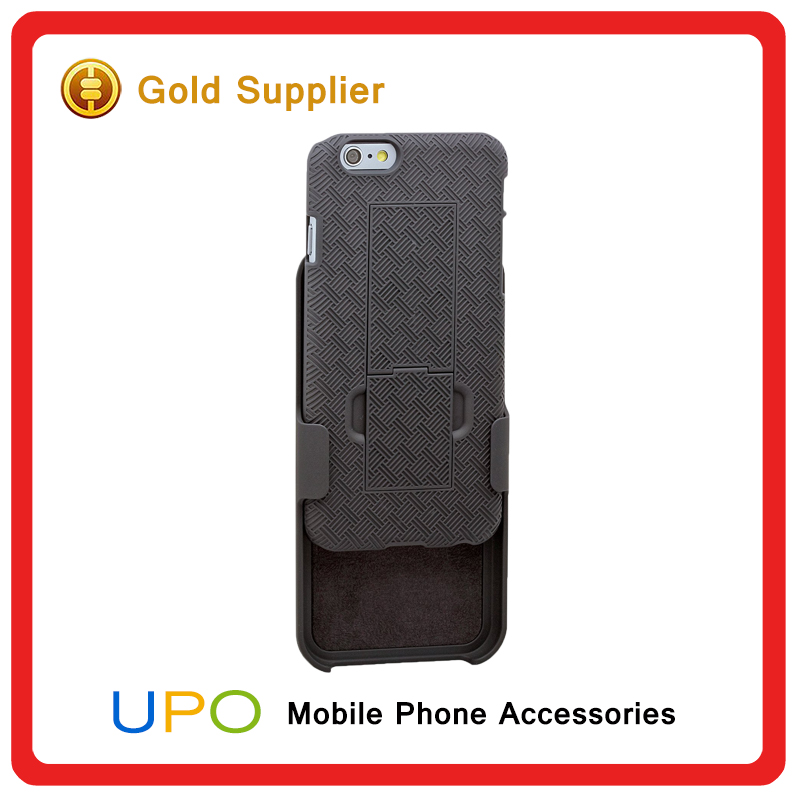 [UPO] Promotion Stylish Protective Shockproof Armor PC Back Cover Holster Combo Case For iPhone 6