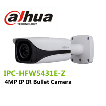 Stock Dahua Original English Camera 4.0MP IP Bullet Camera With Motorized Lens: IPC-HFW5431E-Z