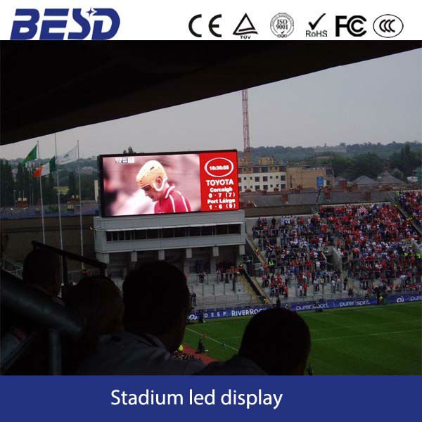 High performance Silan chip P16 outdoor full color stadium led display board live synchronous camera HD video,competitive price