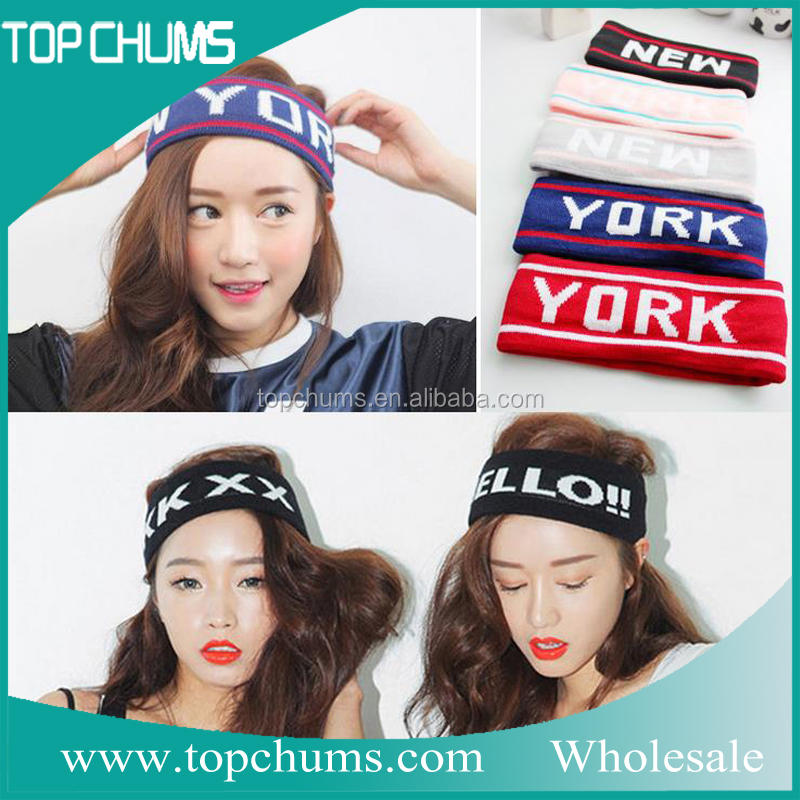 Korea style fashion sport sublimation headbands for women