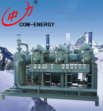 Industrial Bitzer Parallel Refrigeration Air Cooled Condensing unit For Cold Room