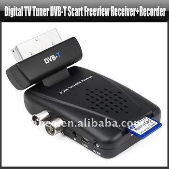 Digital TV Tuner DVB-T Scart Freeview Receiver With Recorder,YAN221A