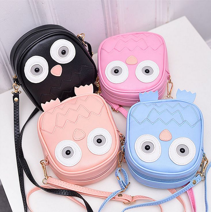 X83966A wholesale cartoon kids pu shoulder bag children girls handbag