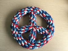 2016 High Quality Cotton Rope Symbol of Peace <strong>Pet</strong> Chew Toy