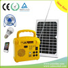 Cheapest price and high quality 6V/7AH mini solar power generator with radio,bulbs &solar panel for your home
