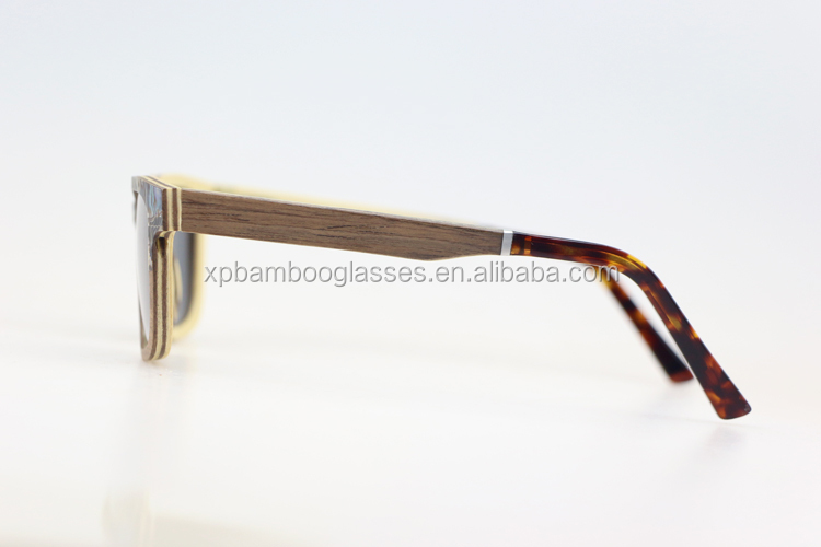 Custom Brand New Design Shell Wood Sunglasses With Grey Polarized Lens