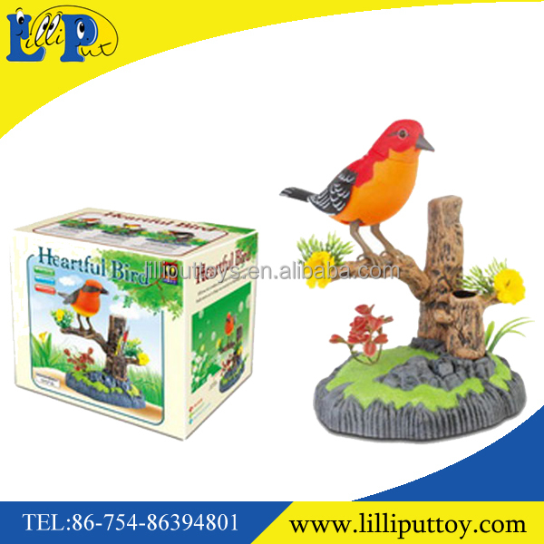 New design beautiful ful B/O single heartful bird toy