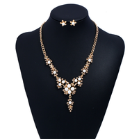 Gold-color jewelry set for women Elegant Party Gift Fashion Costume