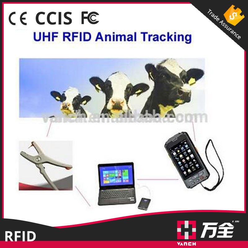 Android waterproof GPS animal uhf rfid reader and mobile phone