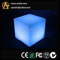 RGBW colour flashing 60cm led cube table /60cm led bar table/60cm led garden outdoor table