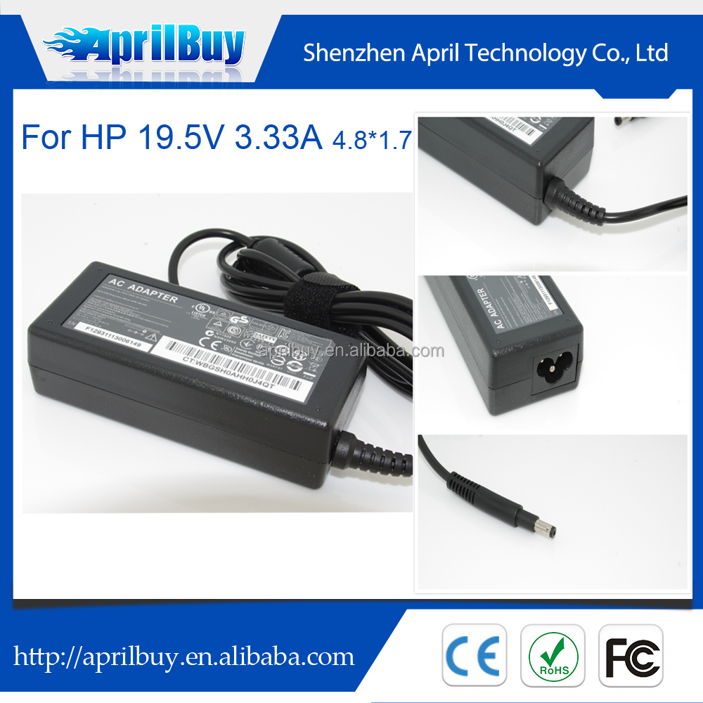 Laptop Power Adapter For HP 19.5V 3.33A 65W 4.8*1.7mm