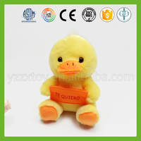 High quality OEM cute small yellow duck plush toys for kids