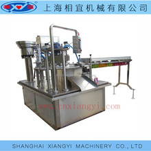 Auto peanut milk soy bean milk standing up spout satchet/pouch/bag filling capping machine