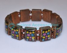cheap chinese wood bead wood bracelets paint