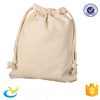 Hot style reusable design natural cotton drawstring pouch bag manufacturer with logo