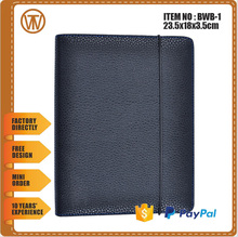 BWB-1 China supply Ring binder custom leather notebook organizers /a5 leather organizers / high quality leather organizers