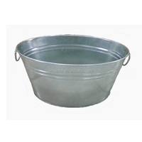 6 gallon and 8 gallon galvanized oval shaped large ice bucket