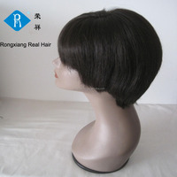 Cheap wholesale factory price 100% remy black human hair low density wig