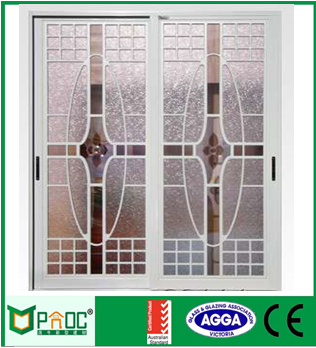 Cheap Aluminum Sliding Doors With Temple Glass