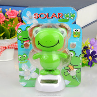 shake toys frog, Solar Moving Toy dancing frog, car decorative gift sun doll factory wholesale