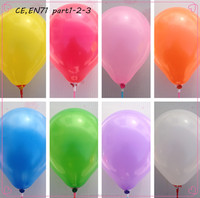 10 different colors 7'' top quality non latex round balloon
