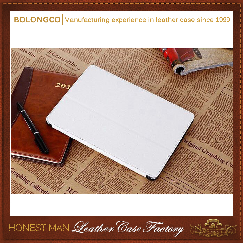 Elegant folio stand PU+PC dustproof leather for ipad case wholesale