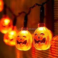 Halloween Decorative Orange Pumpkin LED String Lights