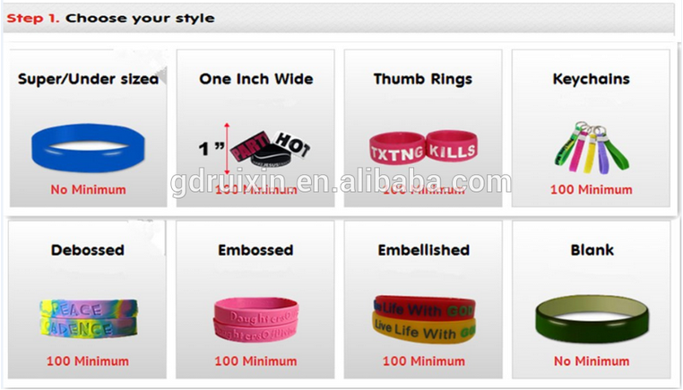 Wholesales Eco-friendly Fashion imprint Silicone Bracelet,2016 Promotional silicone bracelet