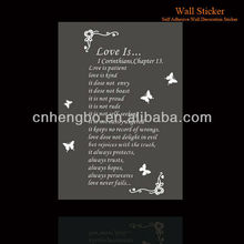 Classical Wall Sticker Quotes
