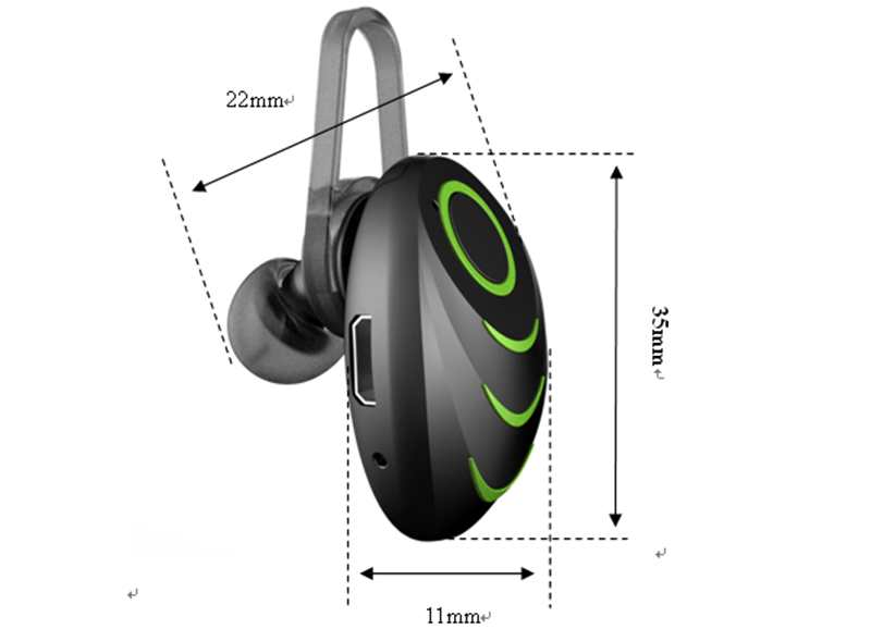 Wireless Sport Bluetooth headset for iPhone mobile phone smart watch Stereo Wireless Bluetooth headphone Earphone made In China
