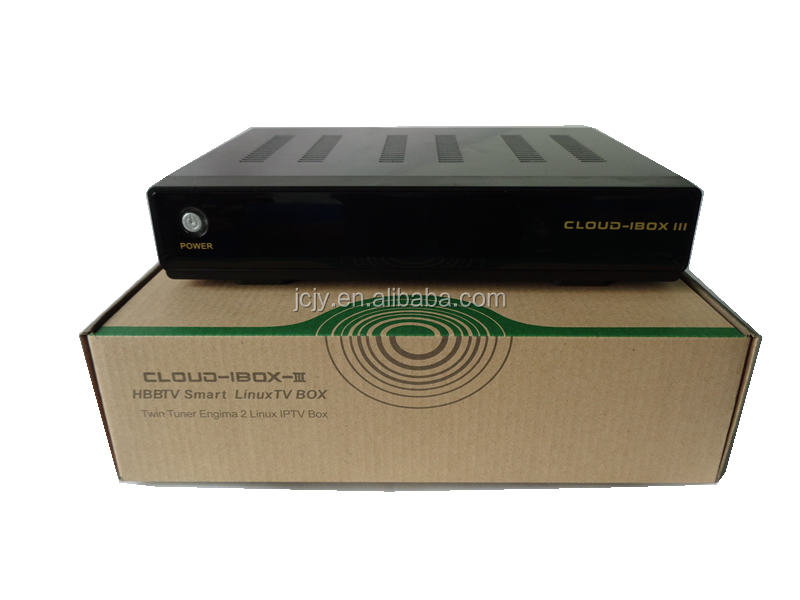 Cloud ibox 3 Twin Tuner Enigma2 Linux built-in DVB-S/S2+T2/C Tuner in stock