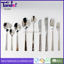 Tander wedding party favors stainless steel spoon fork knife christmas flatware