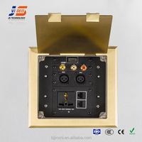JS-DC180 electrical vga rca gold audio switch floor socket box