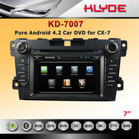 Dashboard Placement Bluetooth/IPOD 7 Inch Double Din Touch Screen Mazda CX-7 Car DVD