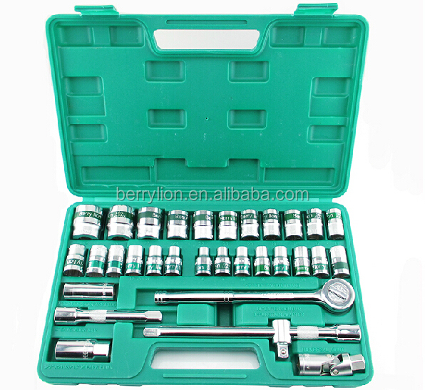 32 pcs CR-V material socket wrench set with high quality
