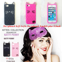 California cat Fruit sister Katy Perry kitty purry Metal Brand Diamond glitter case For iphone4 4s 5 5s 5c 6 6 plus
