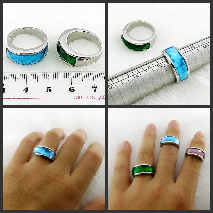 men's stone band ring high quality custom fashion stainless steel jewelry