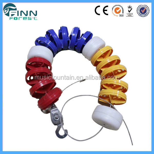 High quality rope plastic hooks durable plastic swimming pool lane rope