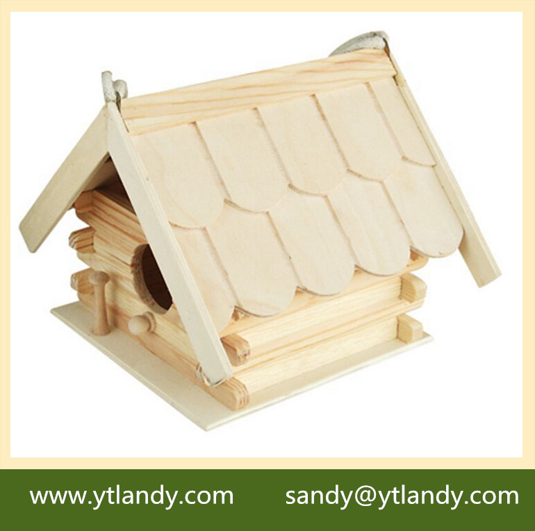 Outdoor roof bird miniature wood crafts houses