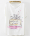 Lady casual woman t shirts short sleeve elegant summer cotton t-shirt