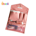 Encai Hanging Envelope Type Cosmetic Bag Travel Triple FoldingToiletry Bag With Hook