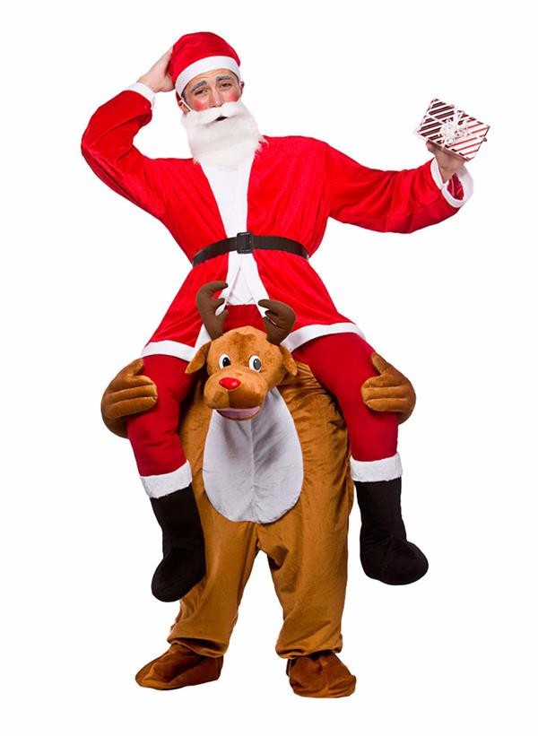 Reindeer Mascot Fancy Dress Adult Carry me Costume Wholesale